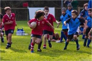 Partido rugby infantil