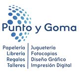 Logo Librería Papelería punto y goma