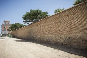 Obras del muro perimetral del Palacio del Infante Don Luis