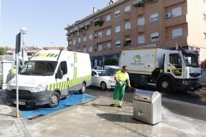 Operación especial limpieza en Boadilla del Monte