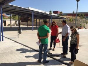 Cambio de canaleta en el Teresa Berganza. Obras en los colegios durante el verano
