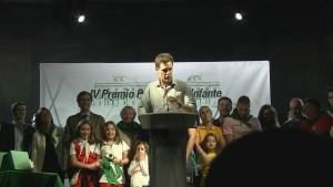 Christian Gálvez en el pregón de las fiestas de Boadilla 2015