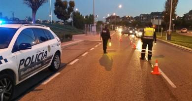 Control de seguridad de la policía local de Boadilla