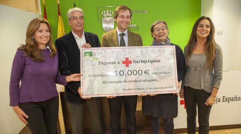 El Ayuntamiento de Boadilla dona 10.000 euros a Cruz Roja