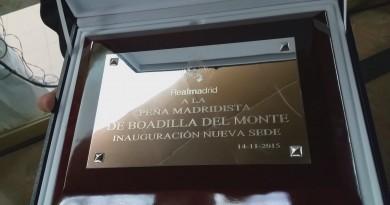 Inauguración sede Peña Madridista Boadilla del Monte
