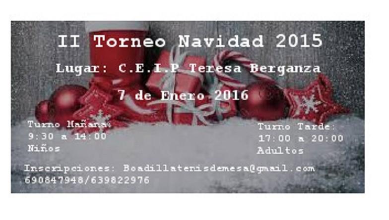 Cartel Torneo Navidad 2015