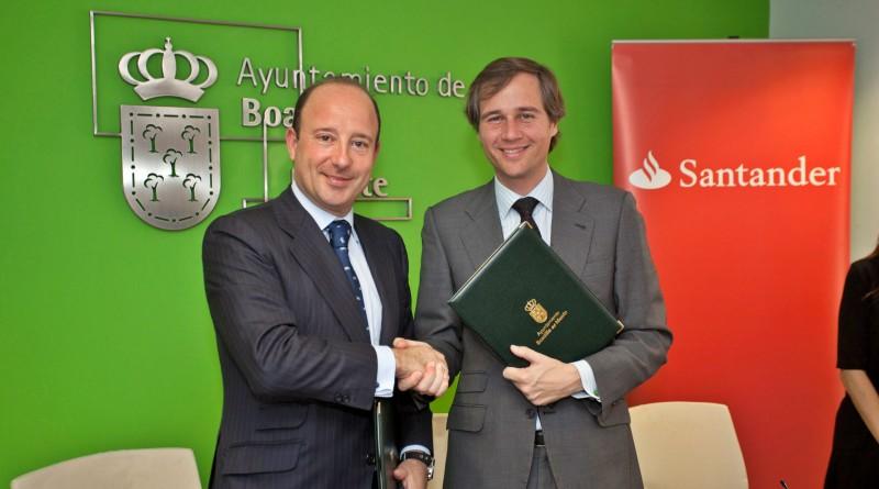 Renovación del Convenio del Ayuntamiento de Boadilla con el Banco de Santander