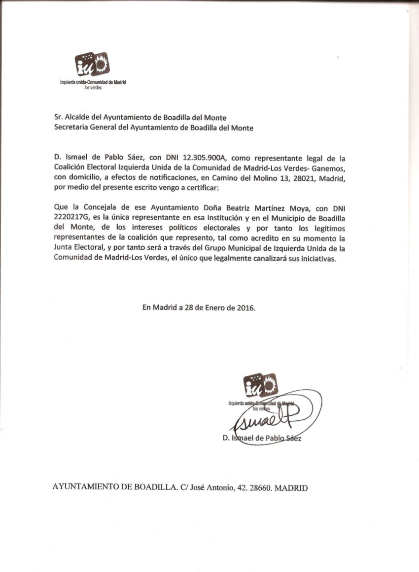 Confirmación nombramiento Beatriz Martínez