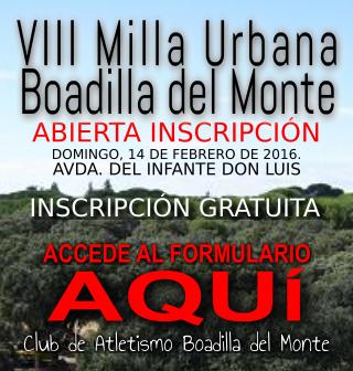 VIII Milla Urbana Solidaria de Boadilla del Monte