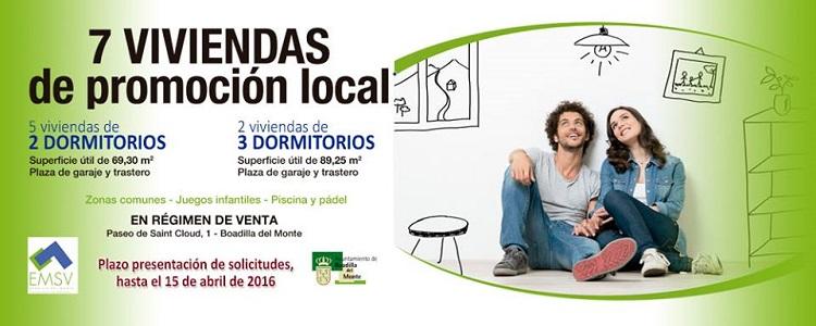 7 viviendasd de promoción local Ayuntamiento de Boadilla del Monte