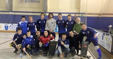Partido de hockey patines del equipo del Colegio Virgen de Europa
