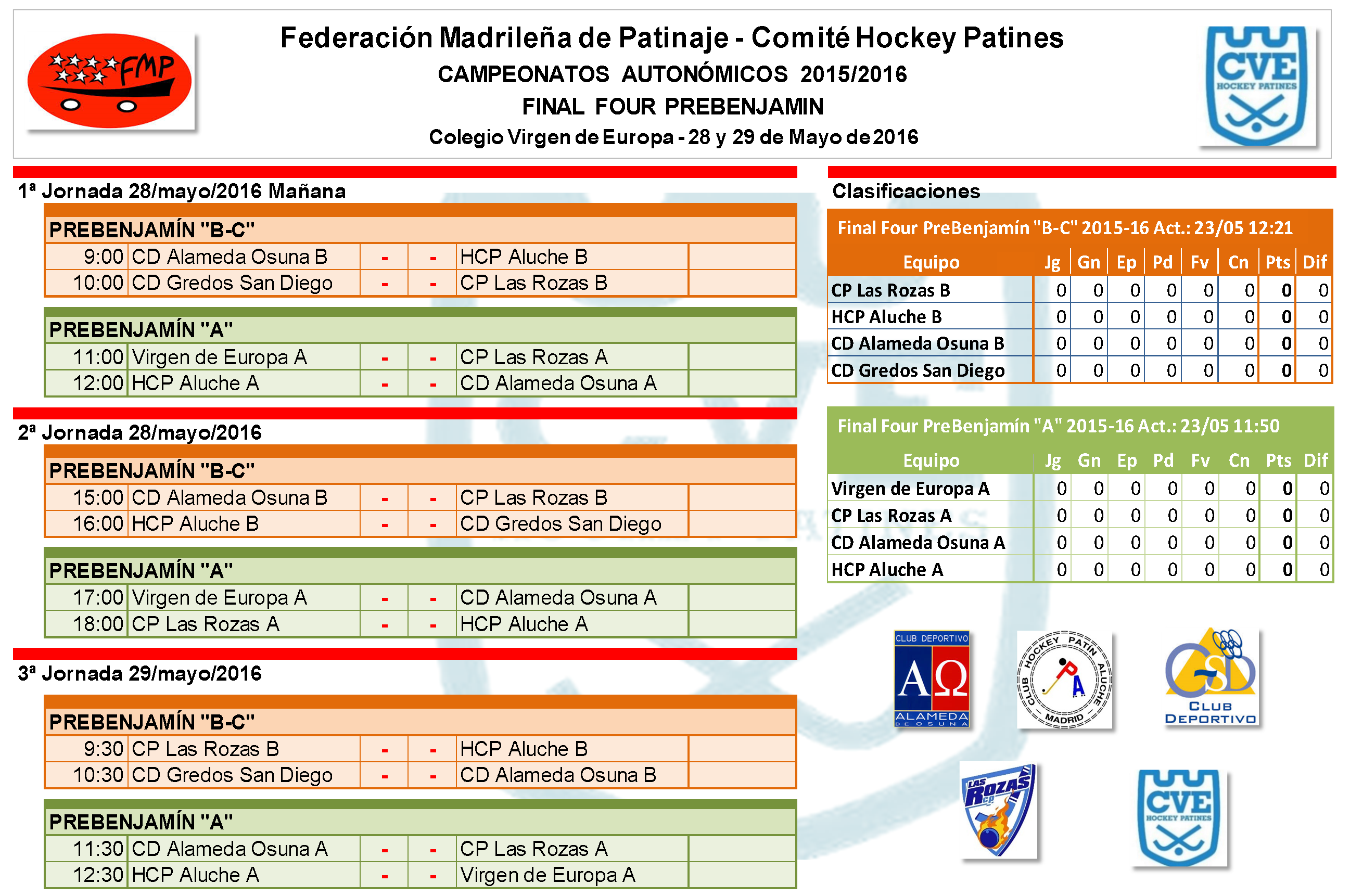 Campeonatos autonómicos de hockey patines. Final Four Virgen de Europa