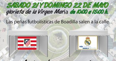 Carpas para recaudación de fondos de las Peñas de Fútbol en Boadilla