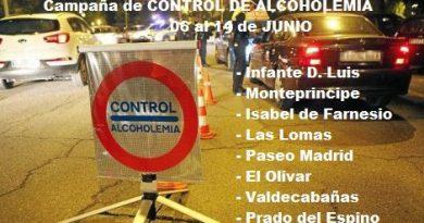 Campaña de control de alcoholemia en Boadilla del Monte