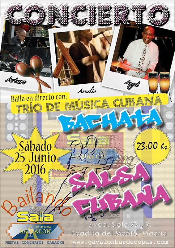 Trio de música cubana en Gavalón