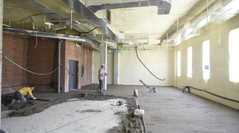 Obras de acondicionamiento del nuevo gimnasio en el Pabellón Rey Felipe VI