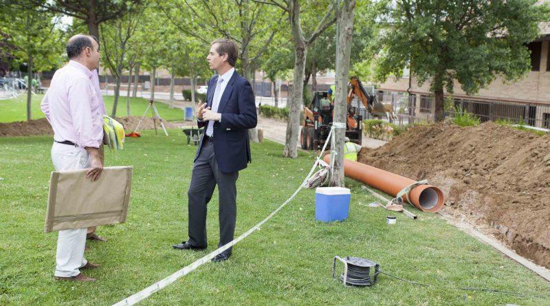 Obras de remodelación del Parque Gutiérrez Soto