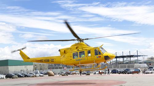 Helicóptero Urgencias. La Comunidad de Madrid mejorará las Urgencias.