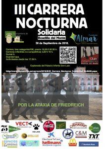 III Carrera solidaria nocturna en Boadilla 2016
