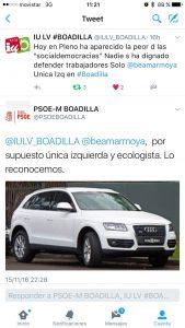 Twitt del PSOE hablando de Beatriz Martínez