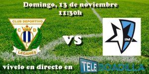 Leganés B vs Inter Boadilla. Jornada 12 Grupo VII Tercera División