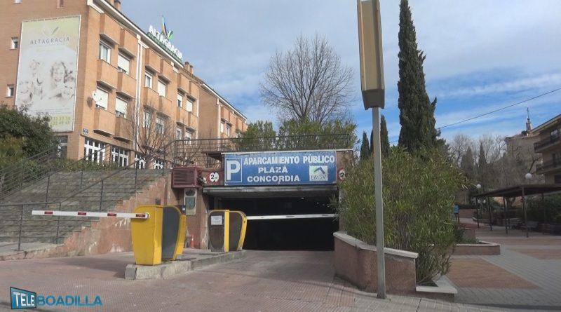 Remodelación del parking público de la plaza de la Concordia de Boadilla