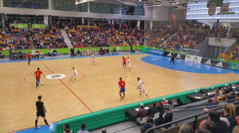 Futbol sala España 5 Montenegro 0