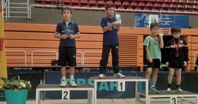 Cinco podios para el tenis de mesa de Boadilla