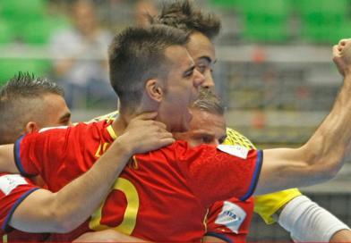 España vs Montenegro de fútbol sala en Boadilla