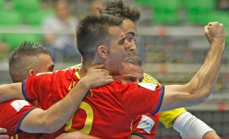 Espa a vs montenegro de f tbol sala en boadilla for Federacion de futbol sala