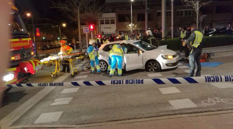 Accidente de un vehículo con el Metro Ligero Oeste en Boadilla del Monte
