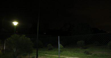 Iluminación en las zonas verdes de Bonanza