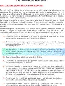 Programa electoral PSOE Boadilla 2015