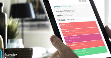 Sede electronica de Boadilla del Monte vista en una tablet