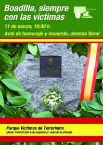 cartel Homenaje víctimas del terrorismo