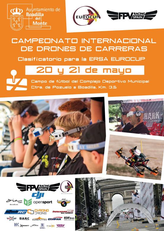 Carrera Internacional de Drones en Boadilla 2017