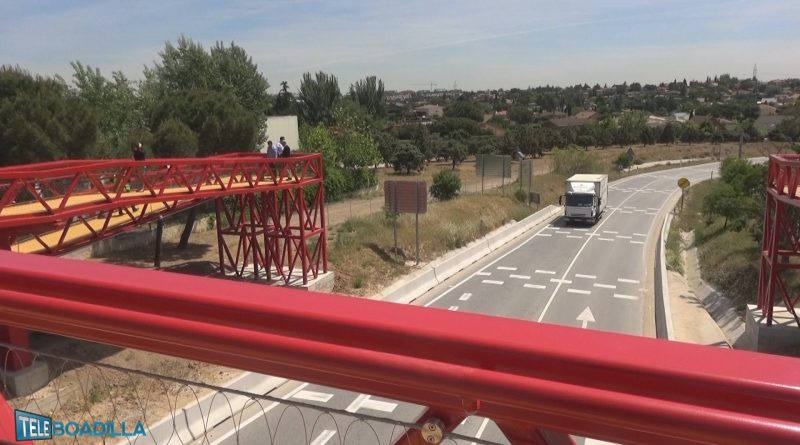 Inauguración mayo 2017 pasarela peatonal sobre M-513
