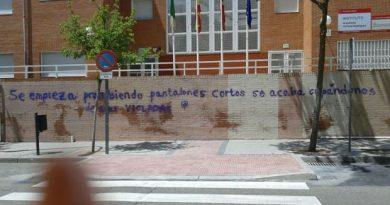 Pintada en el Instituto Ventura Rodríguez de Boadilla del Monte