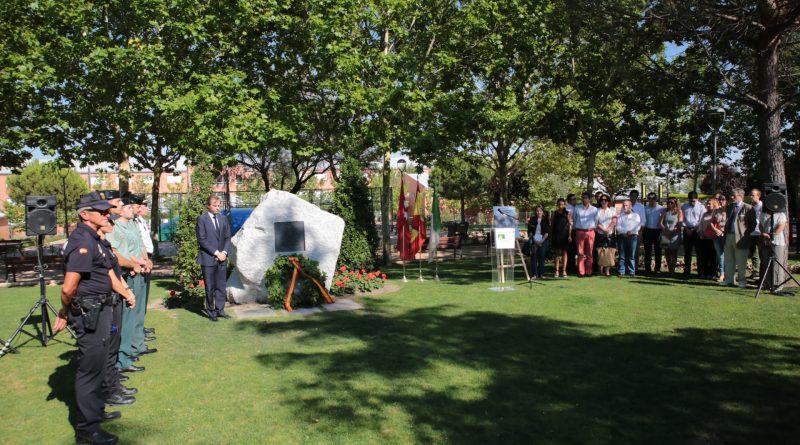 Homenaje a Miguel A. Blanco en el Parque Víctimas del Terrorismo de Boadilla