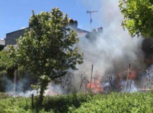 Incendio de una vivienda en Boadilla del Monte