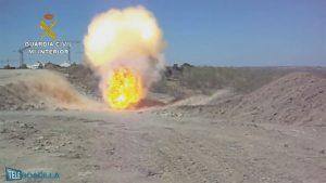 La Guardia Civil hace estallar una bomba de la Guerra Civil en Boadilla