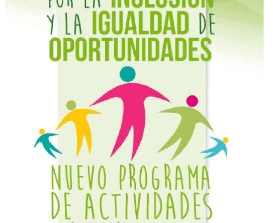 Cartel actividades de ocio para personas con diversidad funcional