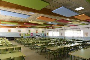 Comedor del Colegio Teresa Berganza ya está insonorizado