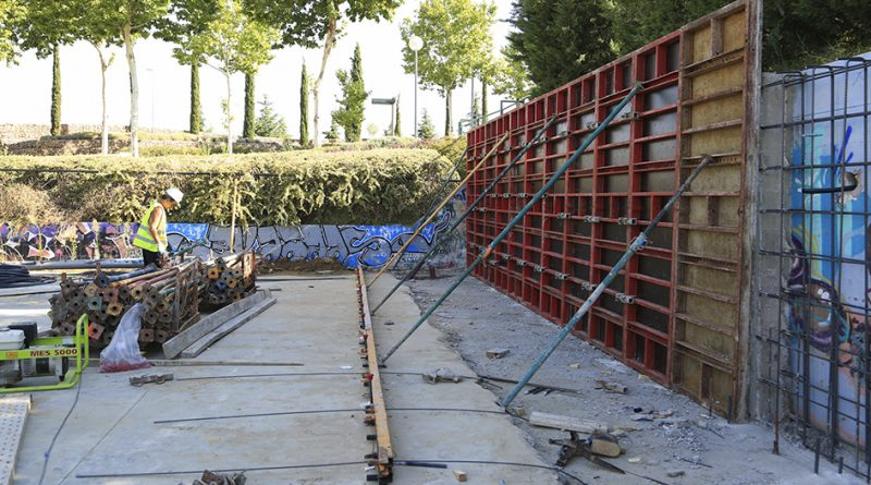 Nuevo muro de contención en el Skate Park