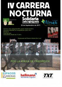 Carrera solidaria nocturna Fundación ALMAR 22-9-2017