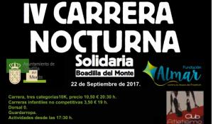 IV Carrera nocturna Fundación ALMAR @ Explanada del Palacio Infante Don Luis de Boadilla | Boadilla del Monte | Comunidad de Madrid | España