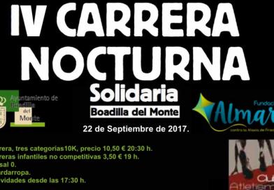 IV Carrera nocturna Fundación ALMAR  22/9