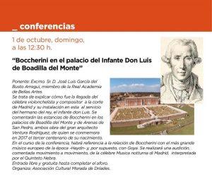 Conferencia: Boccherini en el Palacio del Infante Don Luis @ Palacio del Infante Don Luis de Boadilla del Monte | Boadilla del Monte | Comunidad de Madrid | España