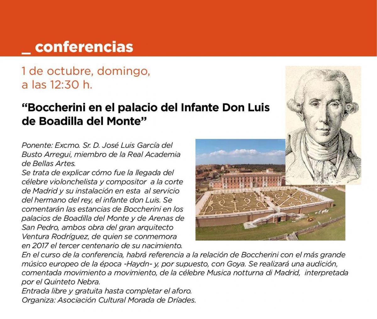 Conferencia. Boccherini en el Palacio del Infante Don Luis