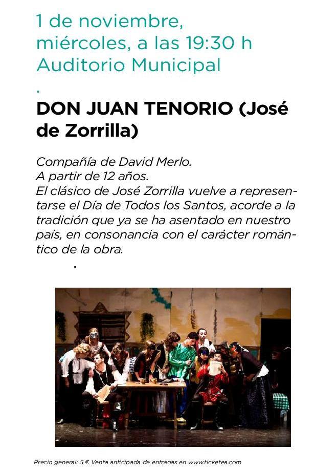 Don Juan Tenorio llega a Boadilla en 2017